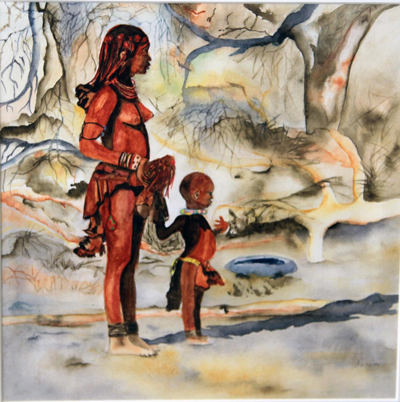 Himbavrouw met kind